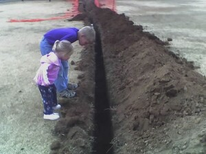Deep trench for fiber cable