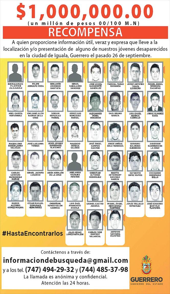 Cartel 43 desaparecidos Mexico
