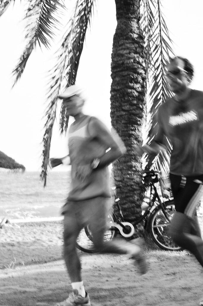 running the beach