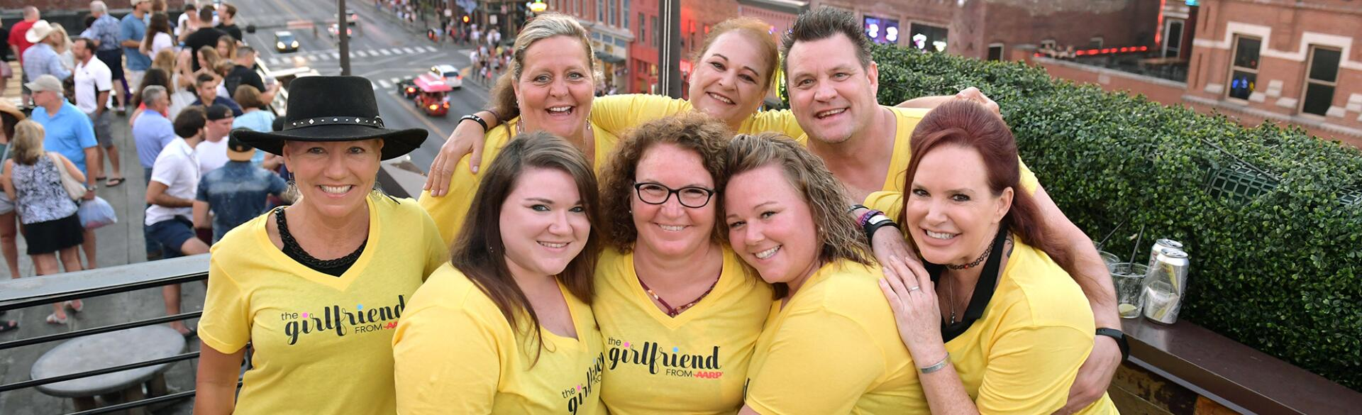Friends from the vegas shooting have a girls night out wearing The Girlfriend tshirts