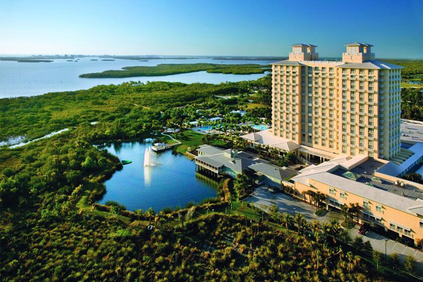 The main hotel and surrounding area in Bonita Springs, Florida.