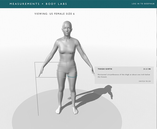 Body avatar from Body Labs