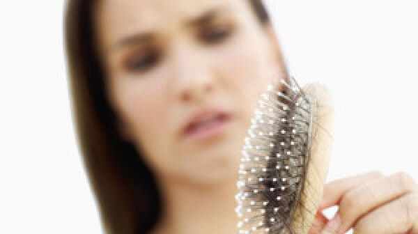 Thinning hair on brush