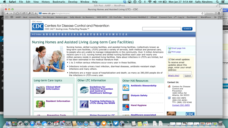 new CDC website to prevent infection in long-term care settings