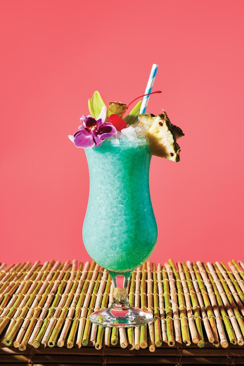 Tropical Cocktails For Your Backyard - Blue Hawaiian