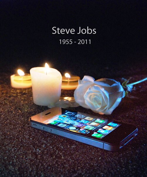 Steve Jobs 1955 - 2011 - Candles - Rose - iPhone