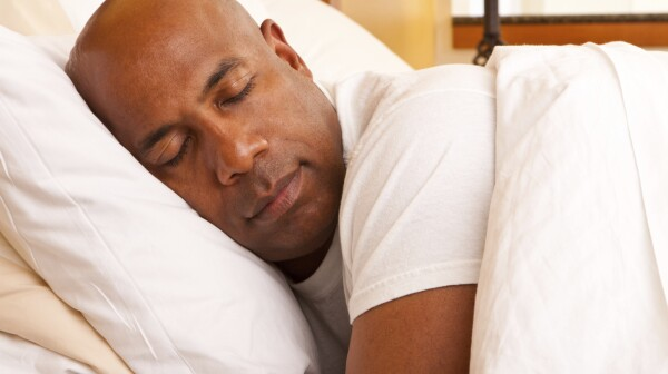 African-American man sleeping