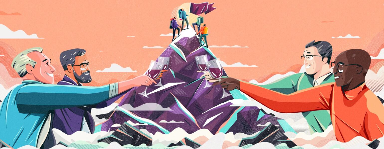Guy Friends, friendship, men, aarp, girlfriend, illustration