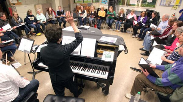 An intergenerational choir of college students and those with dementia and their family caregivers changes perceptions about the disease