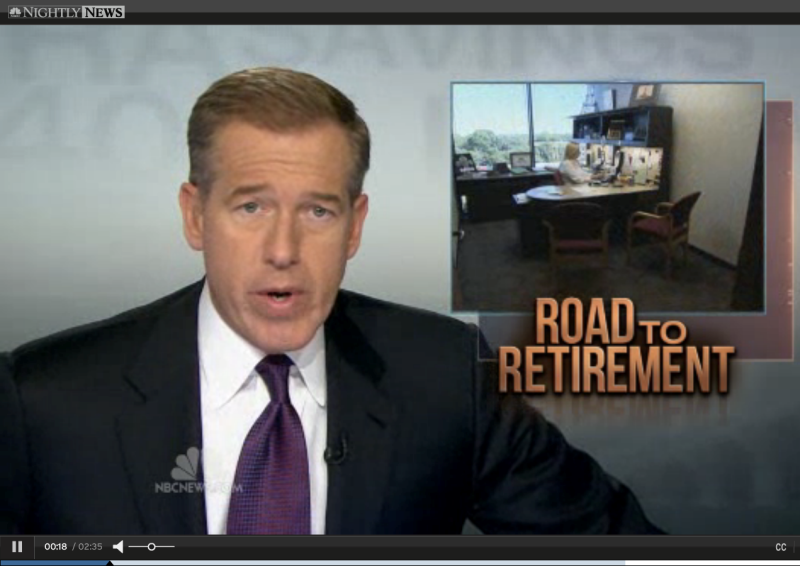 Brian Williams NBC Nightly News Road to Retirement