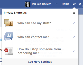 You can click a little lock icon at the top of your Facebook page to look at all of your privacy settings.
