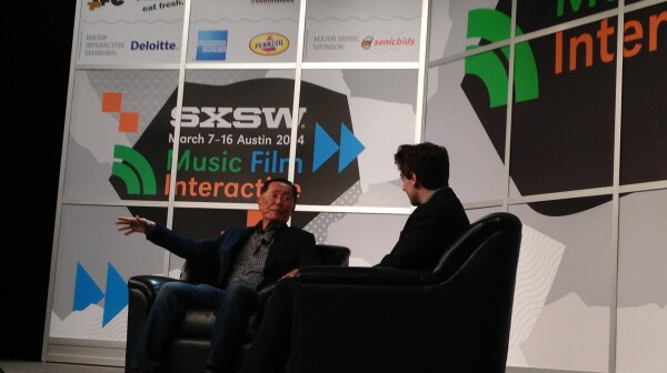 George Takei of Takei's Take spoke to a crowd during the SXSW conference in Austin.
