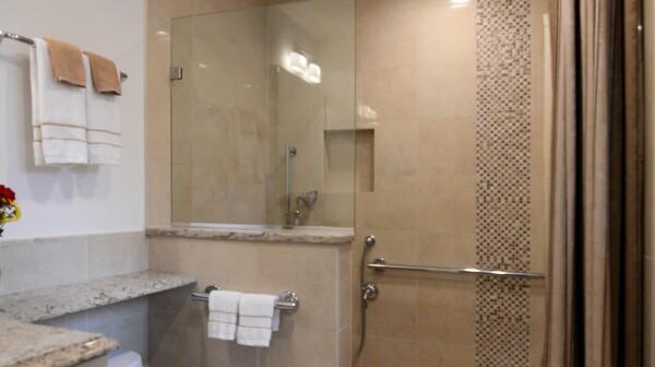 Age-friendly bathroom remodel.