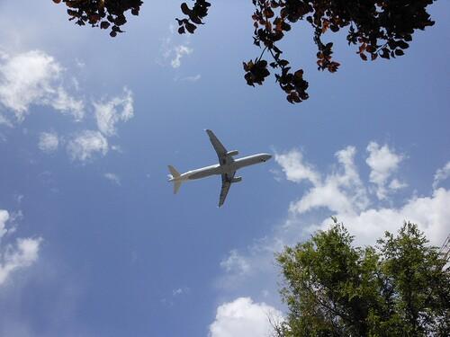 Plane taking off.