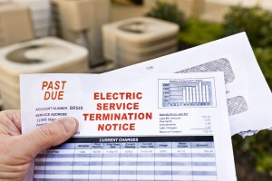 Electric service termination notice