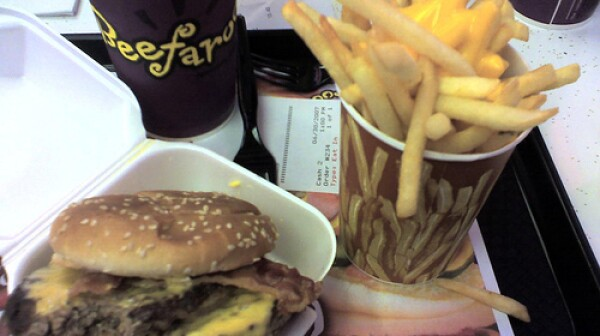 fatty burger and fries