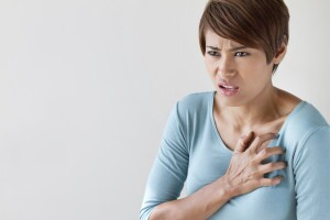 Women experiencing chest pains