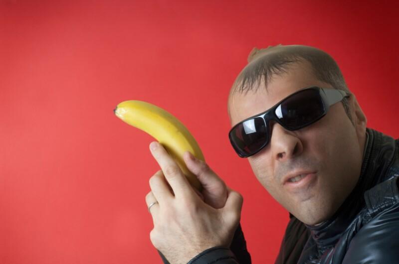 Banana as gun