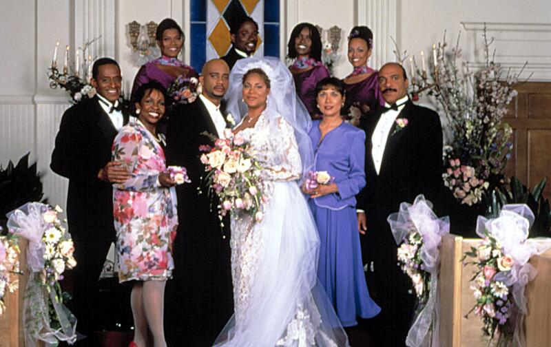 LIVING SINGLE, Antonio Fargas, Gladys Knight, Queen Latifah, John Henton, ?, Kim Coles, Erika Alexan