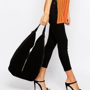 Asos Leather & Suede Slouch Hobo 99