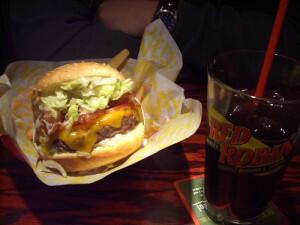 Red Robin monster burger
