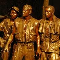 Three Service Men Statue