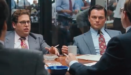 Jonah Hill and Leonardo DiCaprio in Wolf of Wall Street