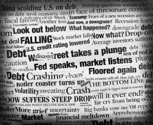 Stock market plunge word cloud