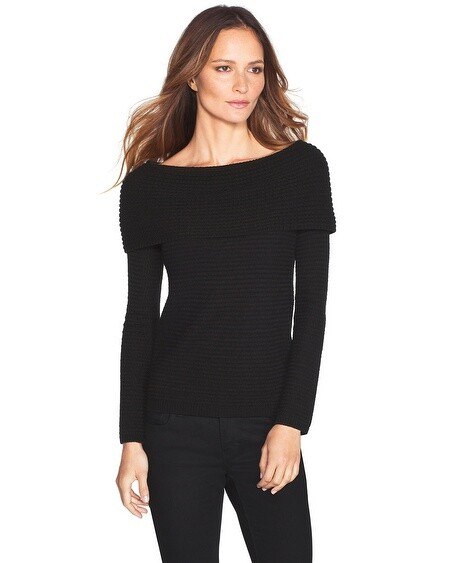 WHBM Off-Shoulder Sweater