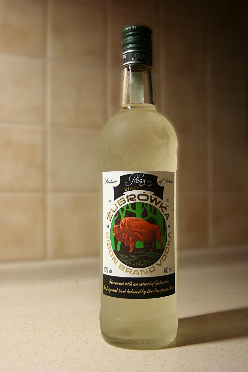 Zubrowka Bison Grass Vodka from Poland