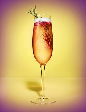 AARP, The Girlfriend, Cranberry, Champagne, cocktails