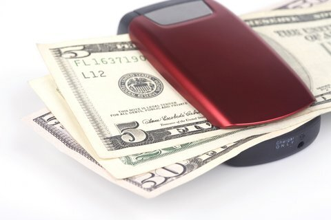 Cell phone and dollars