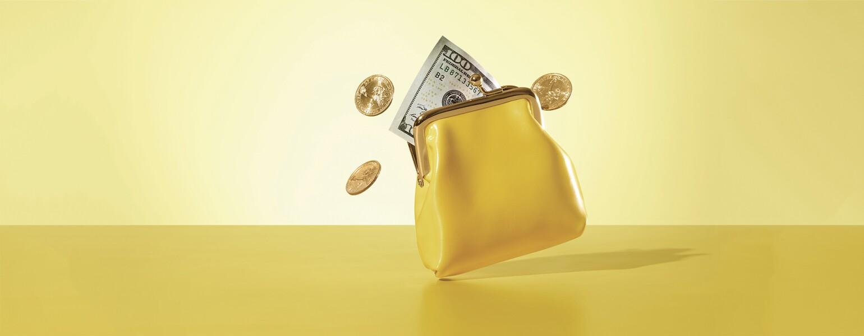 AARP, The Girlfriend, Adam Voorhes, Coin purse, yellow, money, dollar bill, finance, financial advice, women, 40