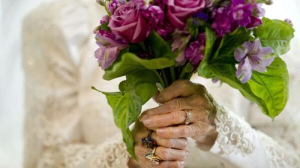 Dana Jackson, 100, on her wedding day
