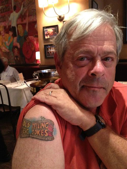 Dan Okrent tatoo photo credit Eric Spiegelman