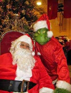 Santa and the Grinch