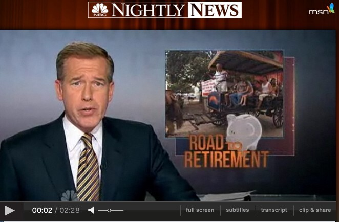 NBC Nightly News Road to Retirement Series BWilliams intro