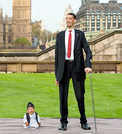 Tallest and shortest man, Guinness Record Holders
