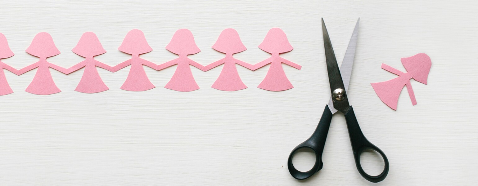 Scissors Have Cut A Paper Doll From The Chain of friends how to break up with a friend