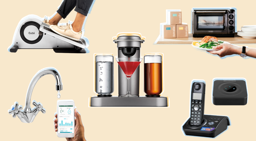 Collage of tech products from the story