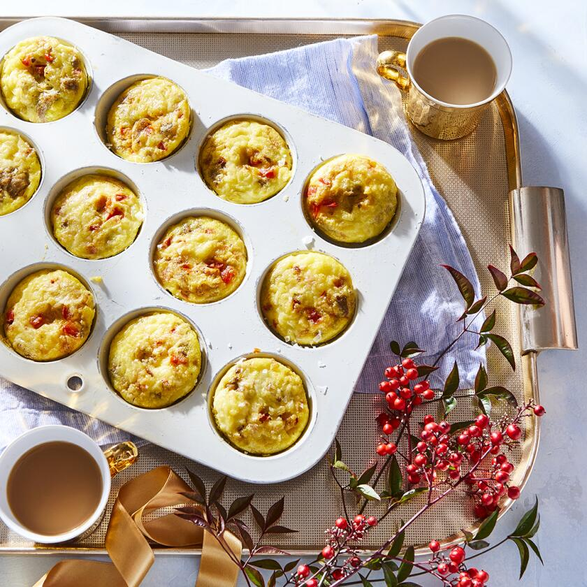 egg muffins in a tin