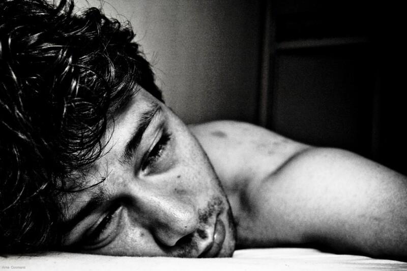Man having insomnia