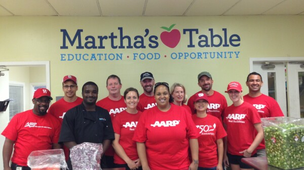 Day of service at Martha's Table