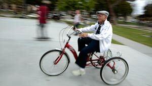 Centenarian Octavio Orduno, 103, rides his bike every day
