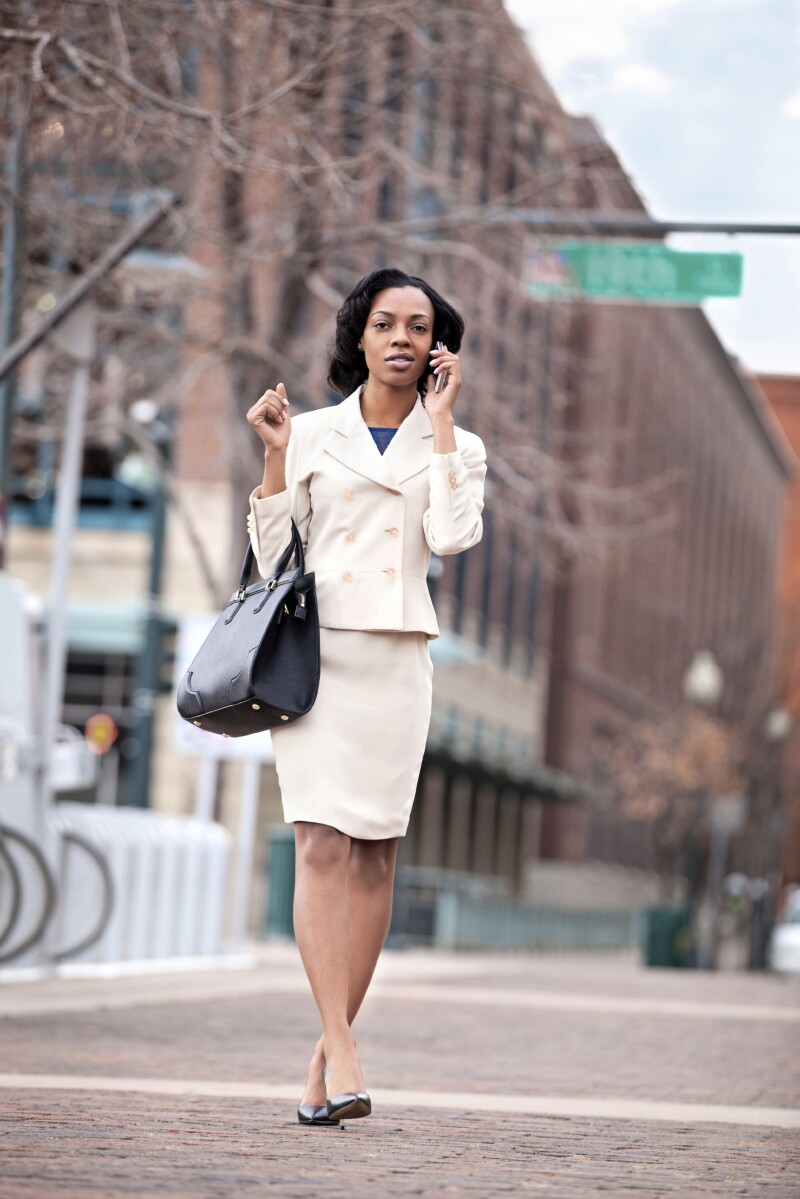 Businesswoman Denver street