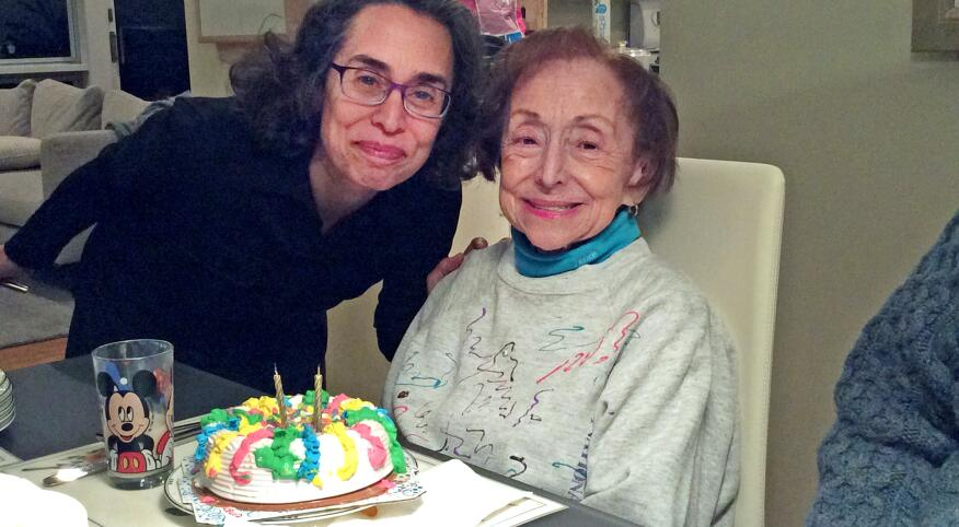 Jodi Lipson and her mother