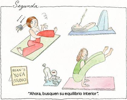 Segunda haciendo yoga