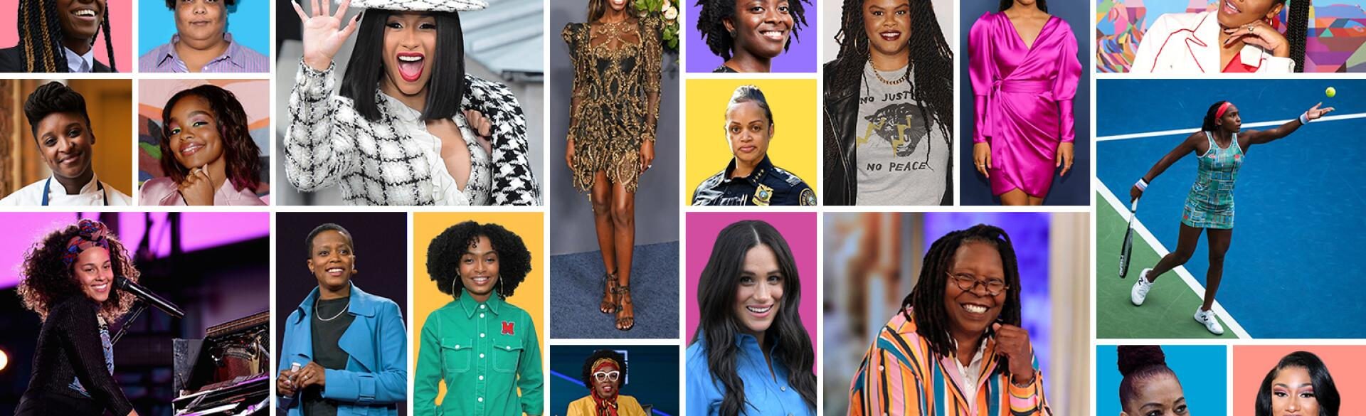 collage of 20 women to watch in 2020