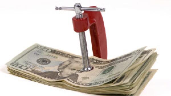 Cash in a vice clamp