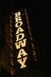 Broadway neon sign